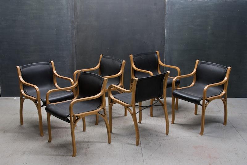 Marvelous Vintage Modern Italian Leather Chairs
