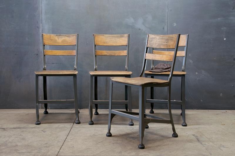 Toledo Metal Industrial Chair Dining Set