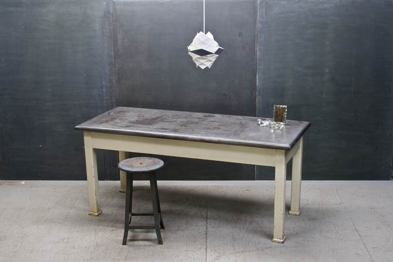 Industrial refectory work table modern50 a non linear design industrial refectory work table workwithnaturefo