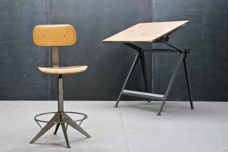 Knoll Drafting Table Chair Prouve